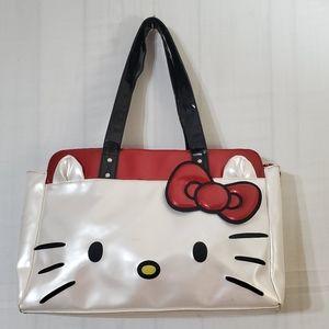 Hello Kitty White Face Leather Tote